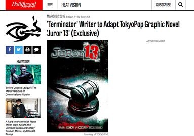'Terminator' Writer to Adapt TokyoPop Graphic Novel 'Juror 13' (Exclusive)